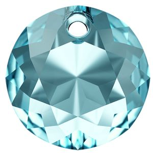 Zawieszka okrągła,Classic Cut Pendant, Swarovski Crystals, 6430 MM 8,0 AQUAMARINE