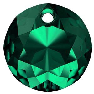 Okrągła zawieszka, Classic Cut Pendant, Swarovski Crystals, 6430 MM 8,0 EMERALD