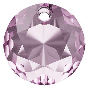 Zawieszka okrągła, Classic Cut Pendant, Swarovski Crystals, 6430 MM 8,0 LIGHT AMETHYST