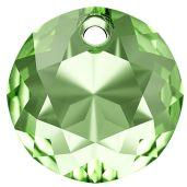 Zawieszka okragła, Classic Cut Pendant, Swarovski Crystals, 6430 MM 8,0 PERIDOT