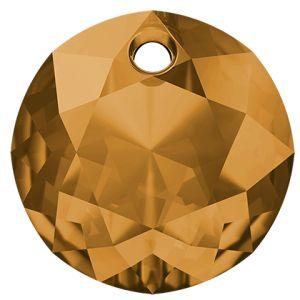 Zawieszka okrągła, Classic Cut Pendant, Swarovski Crystals, 6430 MM 8,0 TOPAZ