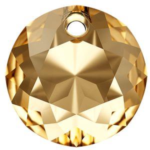 Zawieszka okrągła, Classic Cut Pendant, Swarovski Crystals, 6430 MM 8,0 CRYSTAL GOLDEN SHADOW