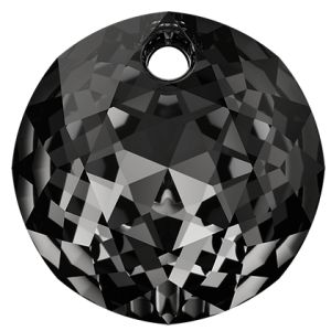 Zawieszka okrągła, Classic Cut Pendant, Swarovski Crystals, 6430 MM 8,0 CRYSTAL SILVER NIGHT