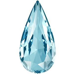 Teardrop Fancy Stone, Swarovski Crystals, 4322 MM 10,0X 5,0 AQUAMARINE F