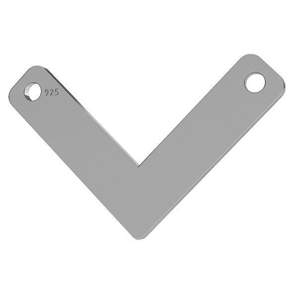 V przywieszka, srebro próba 925, LK-1073 - 0,50