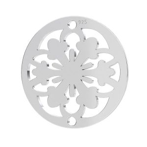 Ozdobna rozeta zawieszka, srebro 925, LK-1259 - 0,50