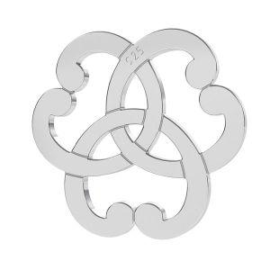 Triquetra zawieszka rozeta z serca, srebro próby 925, LK-1260 - 0,50