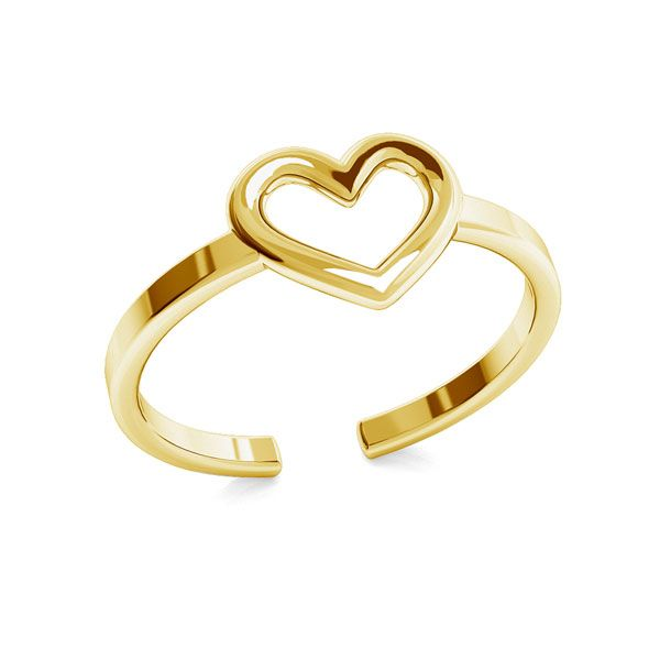 Pierścionek serce, ze srebra próby 925, ODL-00317