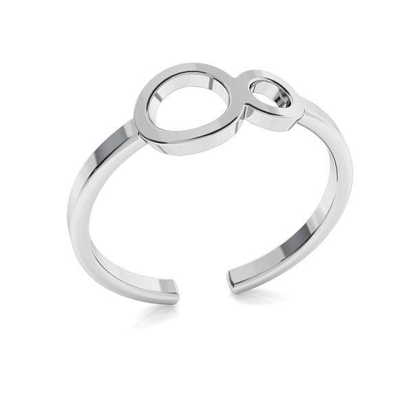 Pierścionek ze znakiem nieskończoności, srebro 925, ODL-00319