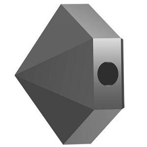 Koralik sześciokąt ćwiek, Hexagon Spike Bead,Swarovski Crystals, 5060 MM 5,5 JET HEMATITE