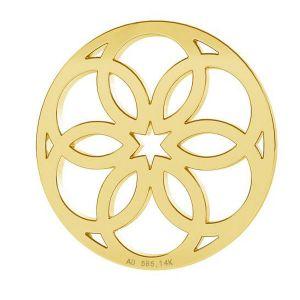 Zawieszka złota rozeta, złoto 14K, LKZ-00742 - 0,30