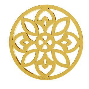 Zawieszka złota rozeta, złoto 14K, LKZ-00619 - 0,30