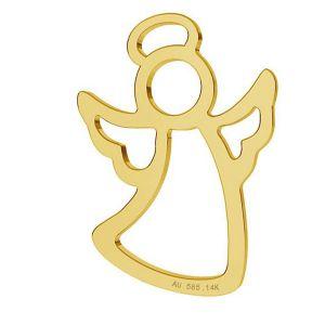 Anioł zawieszka, złoto 14K, LKZ-01296 - 0,30