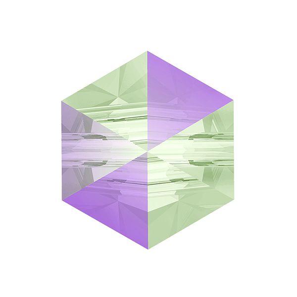 Koralik sześciokąt ćwiek, Swarovski Crystals, 5060 MM 7,5 CRYSTAL  PARADISE SHINE