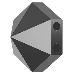 Koralik sześciokąt ćwiek, Hexagon Spike Bead Swarovski Crystals, 5060 MM 7,5 JET HEMATITE