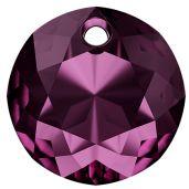 Zawieszka okrągła, Classic Cut Pendant, Swarovski Crystals, 6430 MM 14,0 AMETHYST