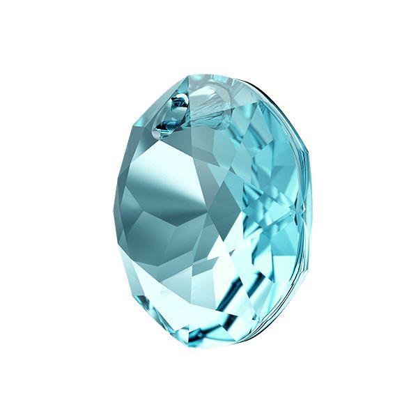 Zawieszka okrągła,  Classic Cut Pendant, Swarovski Crystals, 6430 MM 14,0 AQUAMARINE