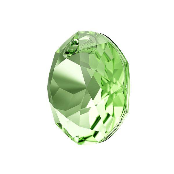 Zawieszka okrągła, Classic Cut Pendant, Swarovski Crystals, 6430 MM 14,0 PERIDOT