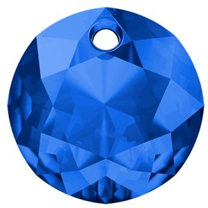 Zawieszka okrągła, Classic Cut Pendant, Swarovski Crystals, 6430 MM 14,0 SAPPHIRE