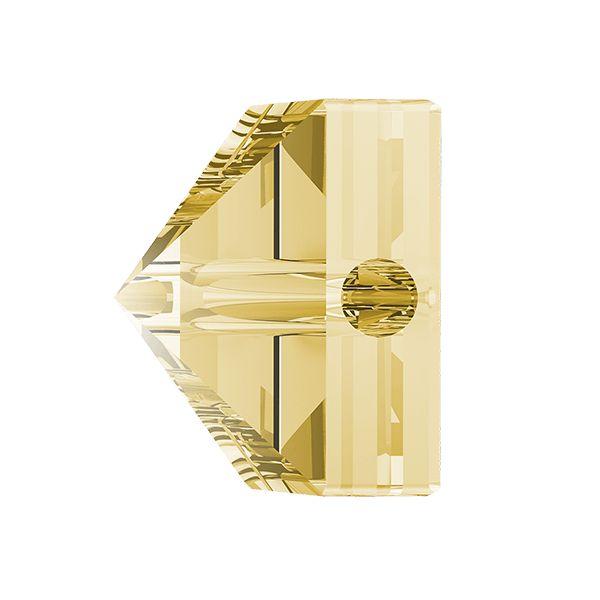 Koralik kwadrat ćwiek, Square Spike Bead, Swarovski Crystals, 5061 MM 5,5 CRYSTAL GOLDEN SHADOW