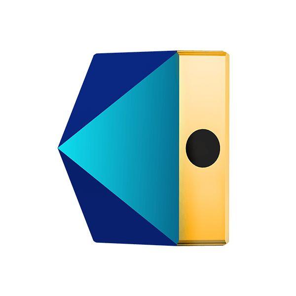 Koralik kwadrat ćwiek, Square Spike Bead, Swarovski Crystals, 5061 MM 5,5 CRYSTAL METALLIC BLUE
