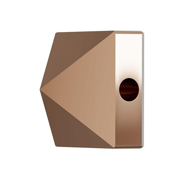 Koralik kwadrat ćwiek, Square Spike Bead, Swarovski Crystals, 5061 MM 5,5 CRYSTAL ROSE GOLD