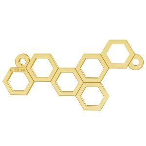 Zawieszka plaster miodu, złoto próby 585 14K, LKZ-00348 - 0,30