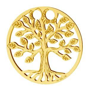 Zawieszka drzewo życia szczęścia, złoto 14K, LKZ-00450 - 0,30