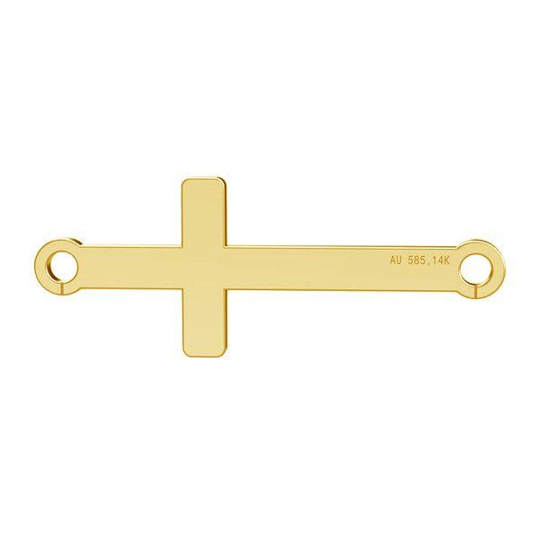Zawieszka krzyżyk poziomy, złoto próby 585 14K, LKZ-00524 - 0,30
