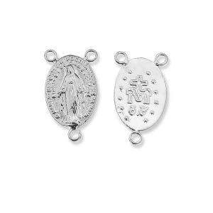 Łącznik do różańca, ze srebra 925, W-57