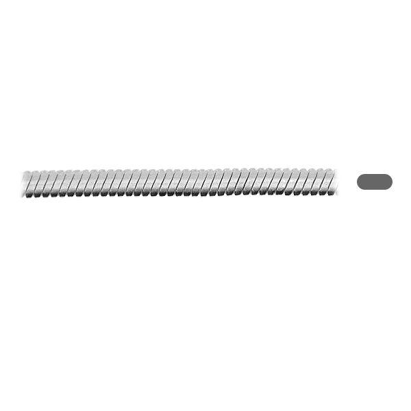 Łańcuszek na metry linka owalna, srebro 925, SNAKE 025 OVAL