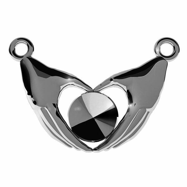 Serce z dłoni zawieszka baza do kamieni Swarovskiego Rivoli, srebro próby 925, ODL-00338 (1122 SS 29)