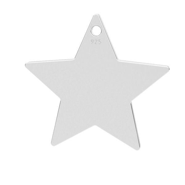 Gwiazda przywieszka, ze srebra 925, LK-1303 - 0,50