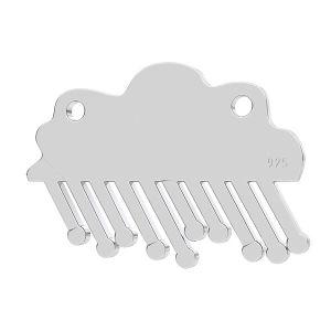 Deszczowa chmura zawieszka łącznik, srebro 925, LK-1202 - 0,50