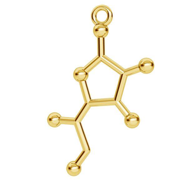 Witamina C wzór chemiczny zawieszka, ze srebra 925, ODL-00335