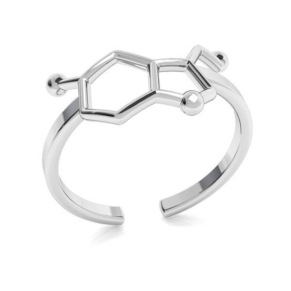Pierścionek Serotonina wzór chemiczny, srebro 925, ODL-00349