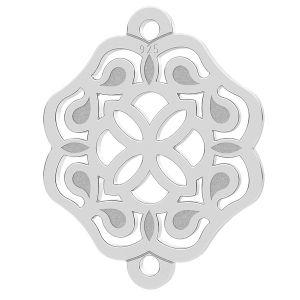 Rozeta zawieszka łącznik, srebro 925, LK-1263 - 0,50