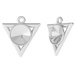 Przywieszka trójkąt baza do Swarovskiego Rivoli, ze srebra 925, ODL-00344 (1122 SS 39)