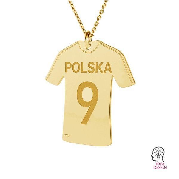 Zawieszka koszulka piłkarska, srebro próby 925, LK-0000 - 0,50