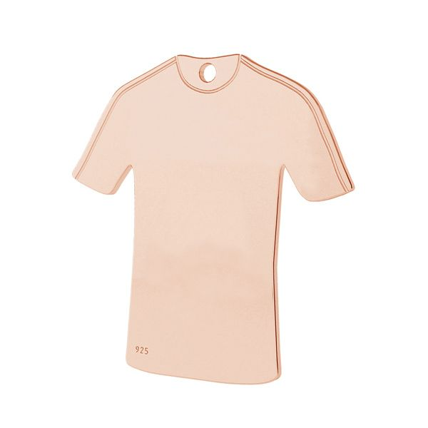 Zawieszka koszulka piłkarska, srebro próby 925, LK-1325 - 0,50
