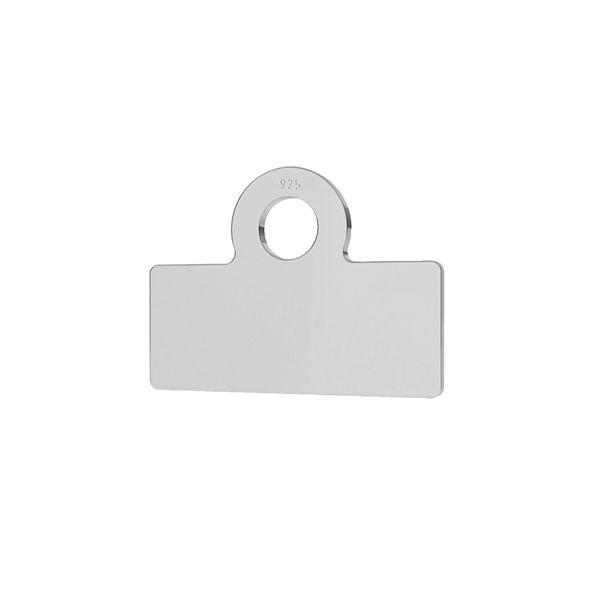 Kwadratowa blaszka wykończeniowa, metka, srebro 925, LK-1327 - 0,50