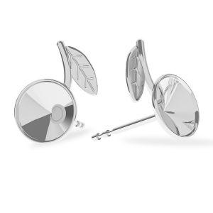 Wiśnie kolczyki sztyft, srebro próby 925, Cherries earring, sterling silver 925, ODL-00355 KLS (1122 SS 29) L+R