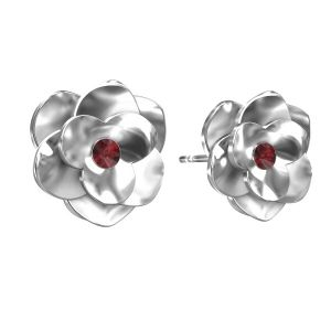 Kolczyki róże ze Swarovskim, srebro 925, ODL-00041 KLS - SIAM