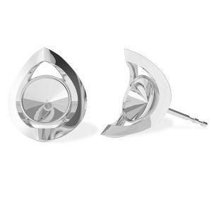 Okrągłe kolczyki baza do Swarovskiego, srebro próby 925, ODL-00360 KLS (1122 SS 29)
