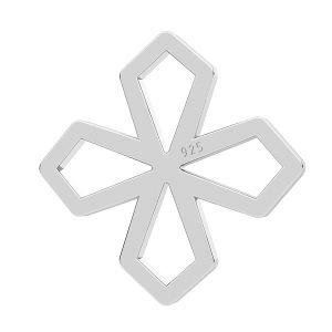 Krzyż zawieszka łącznik, srebro próby 925, LK-1268 - 0,50