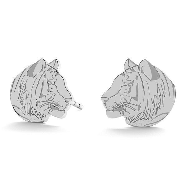 Tygrys kolczyki, ze srebra próby 925, LK-0892 KLS - 0,50