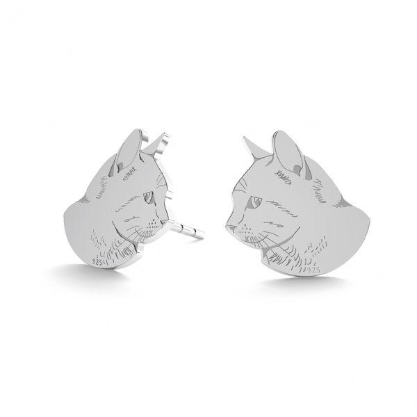 Kot kolczyki, srebro próby 925, LK-0900 KLS - 0,50
