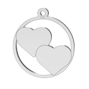 Serce zawieszka, srebro próby 925, LK-1367 - 0,50