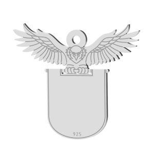 Orzeł zawieszka z blaszką, srebro próby 925, LK-1371 - 0,50