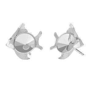 Ryba kolczyki baza do Swarovskiego, srebro próby 925, ODL-00361 KLS (1122 SS 29)